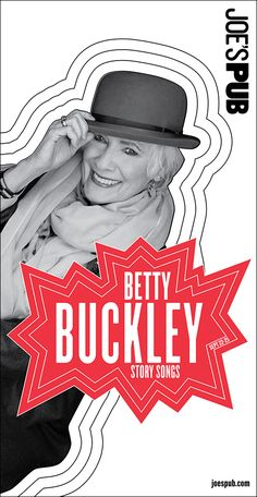 Poster for Betty Buckley's solo show at Joe's Pub. Paula Scher, Betty Buckley, Joes Pub, Public Theater, Self Promo, Creative Workshop, Postmodernism, Editorial Design, Booklet