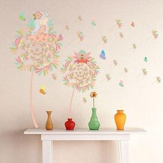 #Spring #AdoreWe #RoseGal - #Rosewholesale Dandelion Design Removable Wall Sticker - AdoreWe.com