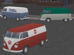 VW-T1 Transporter mehrfarbig