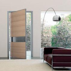 15 idées de portes d'entrées modernes... Porte d'entrée bois (crédit photo site oikos venezia)