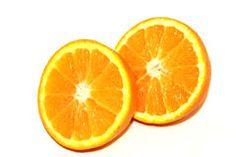 Orange Pieces On White Background Stock Image