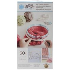 Knitting Boards and Looms 113343: Lion Brand Yarn Martha Stewart Crafts Knit And Weave Loom Kit -> BUY IT NOW ONLY: $30.37 on eBay!