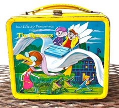 The Rescuers Vintage Lunch box Metal 1977