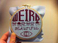 Welcome to Night Vale Cross Stitch | Bourgie Shoes