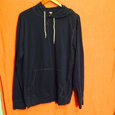 MENS royal blue light weight hoodie Like new. The color is more of a royal blue but didn't pick up well in the photo. MENS large Old Navy Sweaters