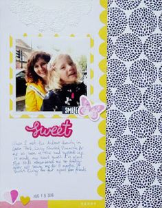 Sweet - by Alexa Gill This layout used a Sketch template from the Simple Scrapper's Premium Membership