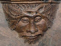 Green man Over, St Mary, Cambridgeshire