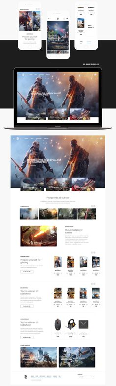Game Shop - UI/UX, Web Design