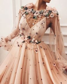 Long Sleeve Prom Dresses Aline Beading Fashion Prom Dress Luxury Evening Dress - beaded peach long sleeve prom dress prom dresses cheap,beautiful prom dresses,prom dresses prom dresses,prom dresses simple Source by Lyntheena - Gorgeous Prom Dresses, Cute Prom Dresses, Prom Dresses Long With Sleeves, Black Prom Dresses, Ball Dresses, Elegant Dresses, Pretty Dresses, Ball Gowns, Evening Dresses