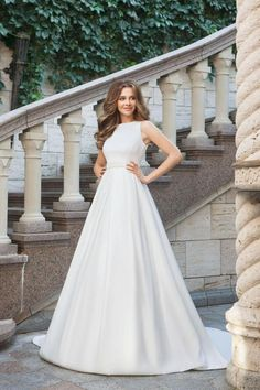 5f246164d1 Chic A-line Wedding Dress Ivory Long Cheap Wedding Dress   VB410