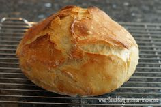 Pinterest Review: Easy Crusty No-Knead Bread - Stumbling upon Happiness