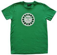 Mens Nelson Viewfinder T Shirt Meadow Marle