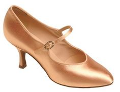 Beautiful clean line court shoe with strap across front and stones on the buckle. http://www.amazon.com/dp/B002HF61I6/?tag=icypnt-20