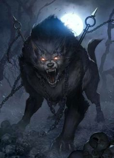 Chained quadruped werewolf