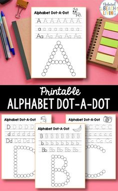 Alphabet Worksheets a-z - Free Q Tip Painting Printables - Natural Beach Living Handwriting Activities, Handwriting Alphabet, Handwriting Worksheets, Alphabet Book, Alphabet Worksheets, Alphabet Activities, Language Activities, Preschool Alphabet, Handwriting Practice