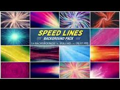 Speed Lines Background Pack