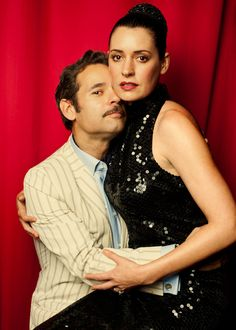 Paul F. Tompkins and Paget Brewster, <3 <3 <3 #morehearts