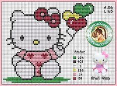 Ateliê Ponto & Patch: Gráficos Hello Kitty em Ponto Cruz
