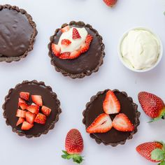 A close friend gave me this Four Ingredient Chocolate Tart recipe. The way she came about this recipe is kind of bitter sweet, just like this tart. Easy Baking Recipes, Tart Recipes, Sweet Life, Bitter, Muffin, Chocolate, Breakfast, Desserts, Food