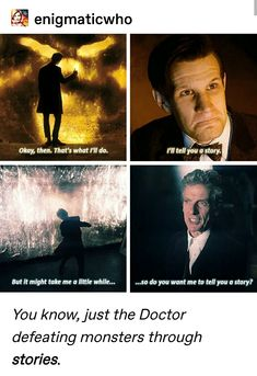 Because we're all stories in the end doctor who. Rose And The Doctor, Doctor Who Funny, I Am The Doctor, Doctor Humor, 12th Doctor, Funny Mom Memes, Mom Humor, Funny Quotes, Torchwood Funny