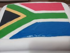 South African Flag Cake South African Flag, Flag Cake, Projects To Try, Cakes, Outdoor Decor, Desserts, Tailgate Desserts, Deserts, Cake Makers