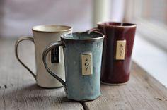 LOVE these! :: Coffee Mug Handbuilt by JustWork on Etsy