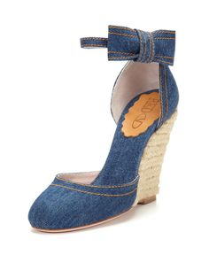 Denim Bow Sandal