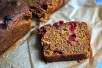 Alice Medrich's Buckwheat Squash Loaf with Cranberries (and lots of other alternative combos!) via Wednesday Chef