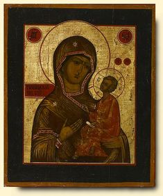 Virgin of Tikhvin - exhibited at the Temple Gallery, specialists in Russian icons 31.3 x 26 FF020