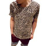 NEW Men Short Sleeves Leopard Prints Stretchy T-shirt $10.81 Shirt Dress, Blouse, T Shirt, Slim Man, Short Sleeves, Leopard Prints, Fitness, Casual, Pants
