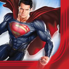 """Superman: Man of Steel Lunch Napkins - Includes: (16) paper 2-ply lunch napkins. Measure 6.5"""" x 6.5"""". This is an officially licensed DC Comics product. Superman Party Supplies, Superman Birthday Party, 60th Birthday, Birthday Ideas, Superman Man Of Steel, Superman Superman, Royal Icing Decorations, Cupcake Decorations, Discount Party Supplies"""