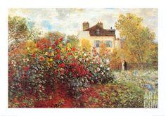 The Artist's Garden in Argenteuil, by Claude Monet