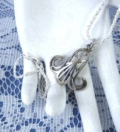 Necklace Egyptian Lotus Sterling Silver by JewelryDiscoveries
