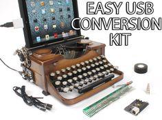 USB Typewriter Conversion Kit -- Easy Install Version. $79.00, via Etsy. (MANY MODELS- MUST SPECIFY-- NOT ELECTRIC TYPEWRITERS)