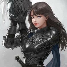 Anime Sketch Warrior How To Draw Warrior Girl, Fantasy Warrior, Fantasy Girl, Anime Warrior, Dark Warrior, Anime Fantasy, Final Fantasy, Hinata Hyuga, Naruhina