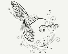 hummingbird adult coloring pages Japanese Embroidery, Hummingbird Tattoo, Drawings, Coloring Pages, Color, Stencils