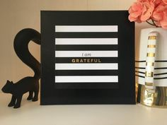 Items similar to I Am Grateful Canvas Sign x on Etsy Gold Accent Decor, Gold Accents, Canvas Signs, I Am Grateful, Unique Jewelry, Frame, Handmade Gifts, Etsy, Vintage