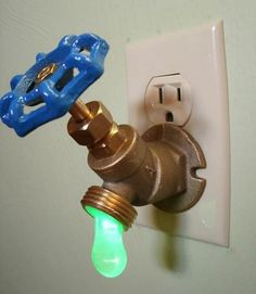 Drippy Faucet Night Light. http://hative.com/creative-led-lights-decorating-ideas/