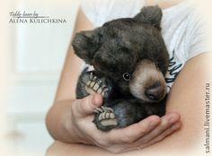 Медвежонок Гай-До - тёмно-серый,мишки тедди,авторская игрушка,мишка,медвежонок