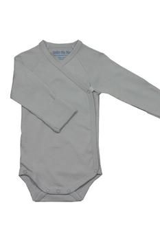 Long Sleeve Side Snap Baby Boy Babybody Suit in Ice Blue