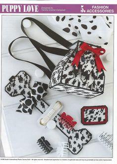 Puppy Love Plastic Canvas Pattern by needlecraftsupershop on Etsy, $3.50