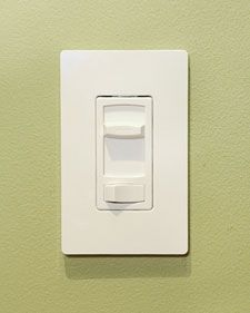 Enhance the lighting in your home by replacing traditional light  switches with adjustable dimmers that allow you to make the room bright  for reading, dim for watching a movie or entertaining guests. As an  added bonus, you save energy by not having your lights on at full  brightness.