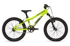 Ramones 20 (2013) - Commencal.   Commencal Ramones 20 – это велосипед с колёсами диаметром 20 дюймов, предназначенный для райдеров в возрасте ориентировочно от 5 до 8 лет. Одной из его ключевых отличительных особенностей является использование 2-х скоростной автоматической трансмиссии. Это решение позволило сделать велосипед более простым, надёжным и при этом стильным.