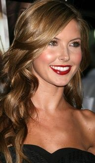 light brown hair with highlights. Pretty for Summer.
