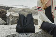The Shopper in Technik-Leather in Black