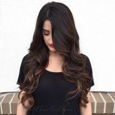 Long layers , long hair , brunette #hairbyelena