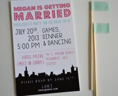 Bachelorette Party Invite - Girls Night Out - Getting Married - Party Invite - DIY Printing - Night Out On the Town Invite on Etsy, $15.00
