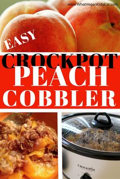 So simple - Crockpot Peach Cobbler. Dessert done!