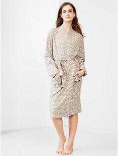 Double-knit dot robe