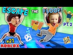 ROBLOX FLOOD ESCAPE!! Undertale Drowning Sick Town! (FGTEEV #20 Gameplay / Skit) - YouTube